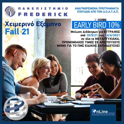 Frederick 10% Early Bird